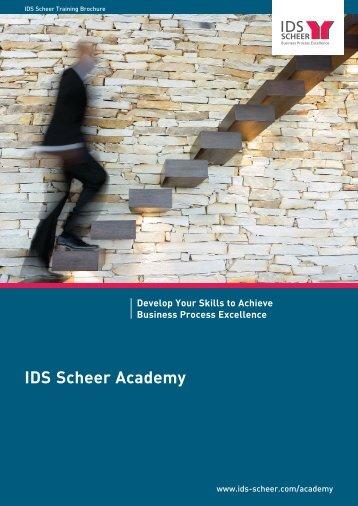IDS Scheer Academy Develop Your Skills to ... - IDS Scheer AG