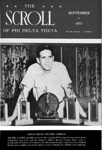 1953–54 Volume 78 No 1–5 - Phi Delta Theta Scroll Archive