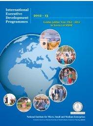 International Executive Development Programmes 2012 - 13