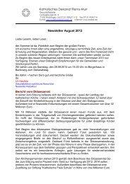 Katholisches Dekanat Rems-Murr Newsletter August 2012