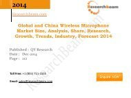 Global and China Wireless Microphone Market Size, Analysis, Growth, Trends, Industry 2014