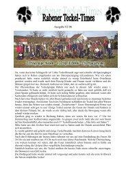 Ausgabe 03/06 - Teckelgruppe Raben