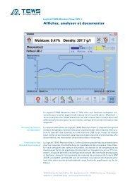 Afficher, analyser et documenter - TEWS Elektronik
