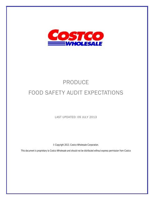 Costco Produce Food Safety Audit Expectations Ncsi Americas Inc