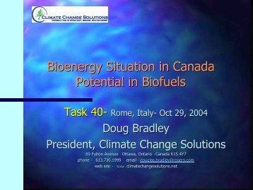 Bioenergy Situation in Canada Potential in Biofuels - IEA Bioenergy ...