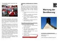 Warnung der Bevölkerung - bei der Feuerwehr Erlangen