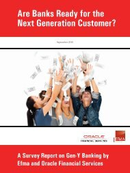 Next Generation Customer? Are Banks Ready for the - Oracle