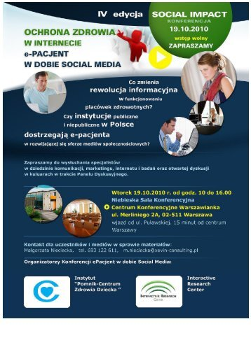 Social Impact IV - Centrum Zdrowia Dziecka