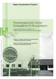 Psykoterapeutisk Center Stolpegårds 50 års jubilæum - Region ...