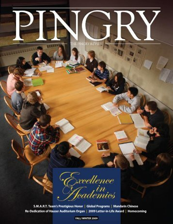Fall/Winter 2009 - THE PINGRY REVIEW - Pingry School