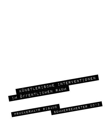 Dokumentation KIIOER 2013.pdf - institut für zeitgenössische kunst