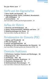 Stoffe und ihre Eigenschaften Aufbau der Materie Periodensystem ...