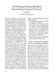 kulturelle Kontinuität und Diversität1 - Salzburger Volkskultur