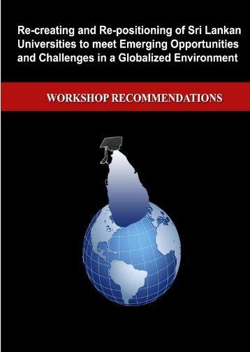 Workshop Recomendations.pdf - University Grants Commission - Sri ...