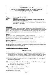Protokoll - Gemeinde Handewitt