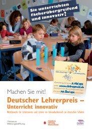 Handzettel Unterricht innovativ 2011 - Deutscher Lehrerpreis