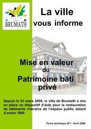 Mise en valeur du patrimoine bâti - Brumath