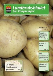 Landbruksbladet - Kongsvinger Kommune
