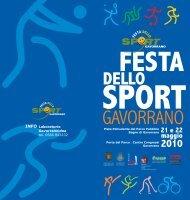 Programma della festa dello sport - Comune di Gavorrano