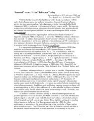 """Avian"" Influenza Testing - the Nebraska Public Health Laboratory"