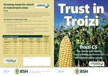 to download more information on Troizi Forage Maize - British Seed ...
