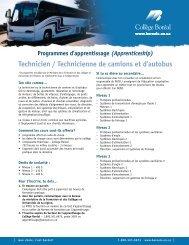 Technicien / technicienne de camions et d'autocars - Collège Boréal