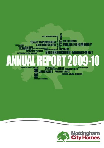 Annual report 2009-10 full version - Nottingham City Homes