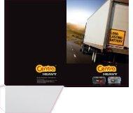 Leaflet CENTRA Truck batteries - Exide Technologies