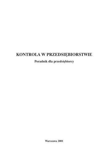 Kontrola w przedsiębiorstwie - Polska Agencja Rozwoju ...
