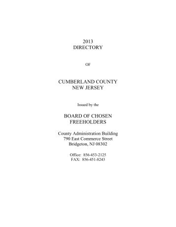 Print an Official Cumberland County Directory