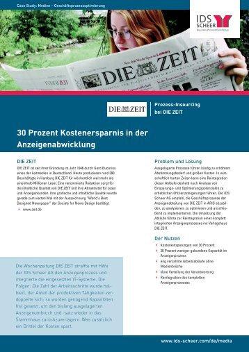 30 Prozent Kostenersparnis in der ... - IDS Scheer AG