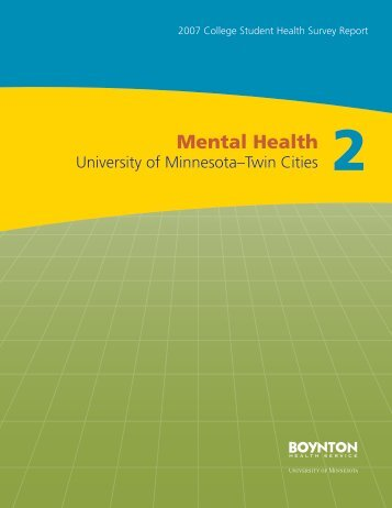 Mental Health - Boynton Health Service - University of Minnesota