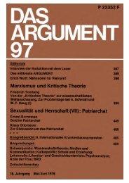 Das Argument 97 - Berliner Institut für kritische Theorie eV