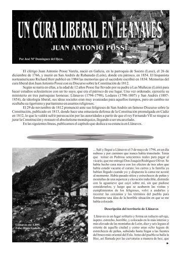 Juan Antonio Posse en Llánaves en .PDF - Sandoval de la Reina