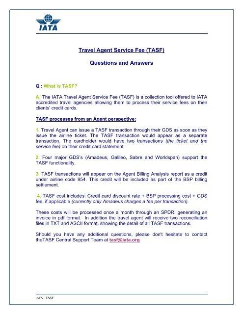 TASF FAQ – Customer Service Centre Europe