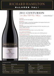 Tasting Note - Leconfield Wines