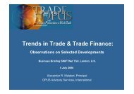 Trends in Trade & Trade Finance: - OPUS Advisory Services ...