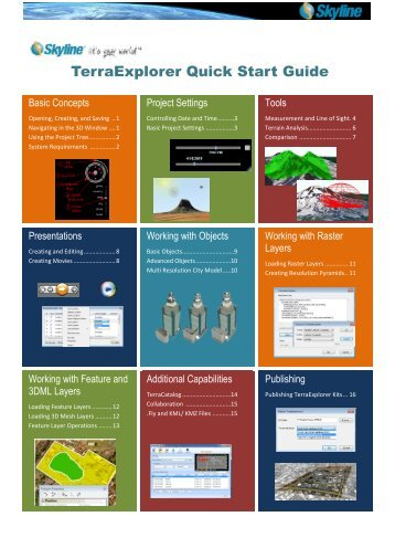 TerraExplorer Quick Start Guide - Skyline Software Systems