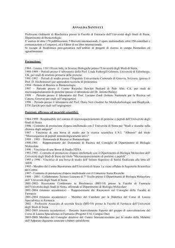 scarica il cv completo in pdf - Vino e Salute