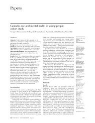 Cannabis use and mental health in young people