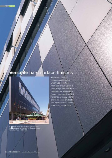 Feature Article - Versatile Hard Surface Finishes - Infotile