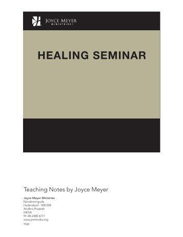 HEALING SEMINAR - Joyce Meyer Ministries: Asia