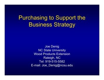 Purchasing Decisions That Support Your Business - North Carolina ...