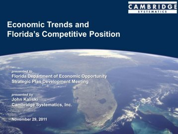 Economic Conditions - Southwest Florida Regional Planning Council