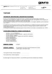 TOPCER - bestektekst NL-FR - Gavra
