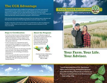 Farmer - Certified Crop Adviser