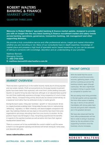 ROBERT wALTERS BANkING & FINANCE ... - CTgoodjobs.hk