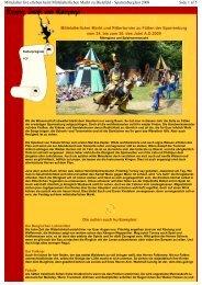 Side 1 af 5 Mittelalter live erleben beim Mittelalterlichen Markt zu ...