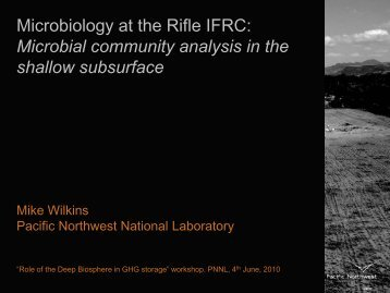 Wilkins deep biosphere workshop Juen2010.pdf - Pacific Northwest ...