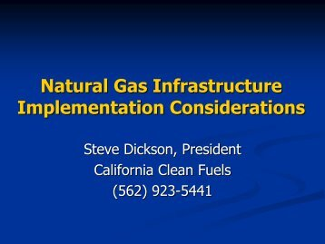 Natural Gas Infrastructure Implementation Considerations